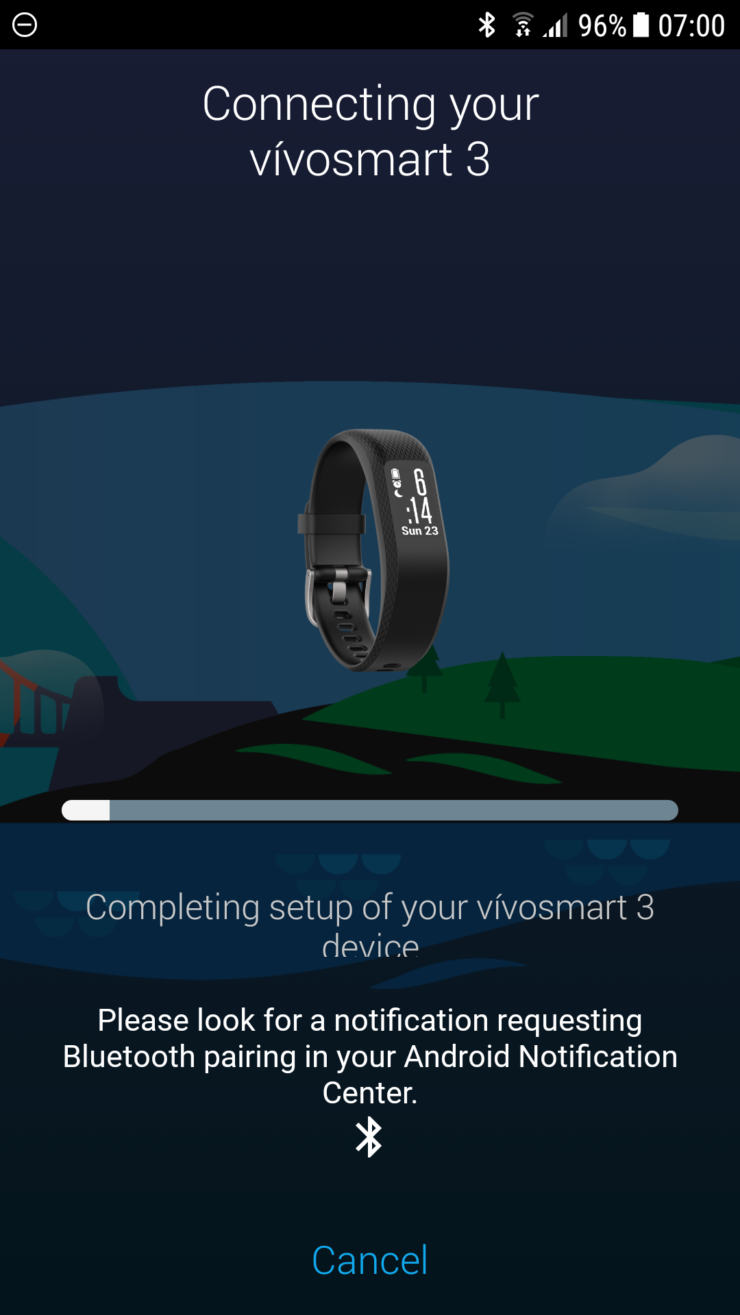 Vivosmart 3 won't reconnect - Garmin Connect Mobile Android - Mobile