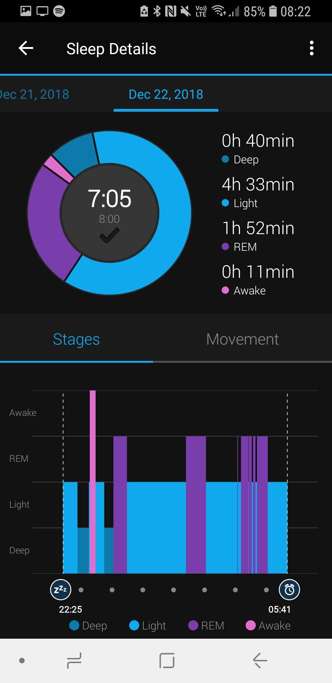 Sleep tracking vivoactive 3 and Garmin connect 4 13 5