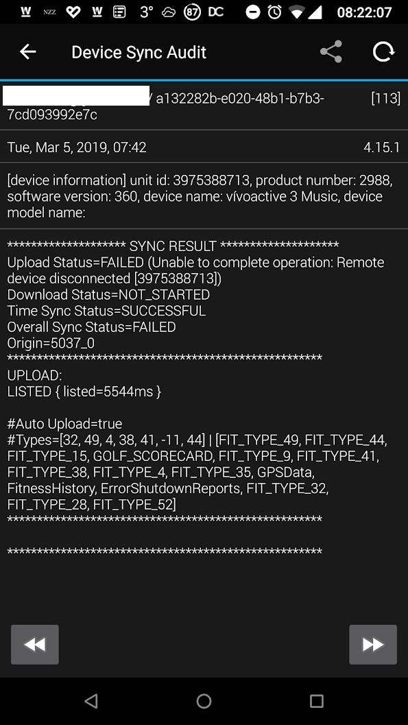 Not Syncing Activities/No Sync via App - vivoactive 3 Series