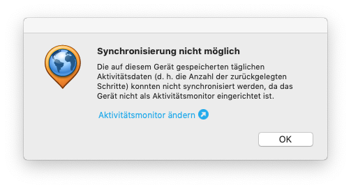 Cannot Sync Anymore Successfully     - Garmin Express Mac
