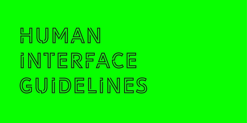 Connect IQ Track: Human Interface Guidelines