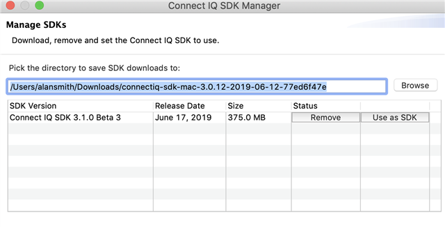 Configuring SDKs in Eclipse - Discussion - Connect IQ