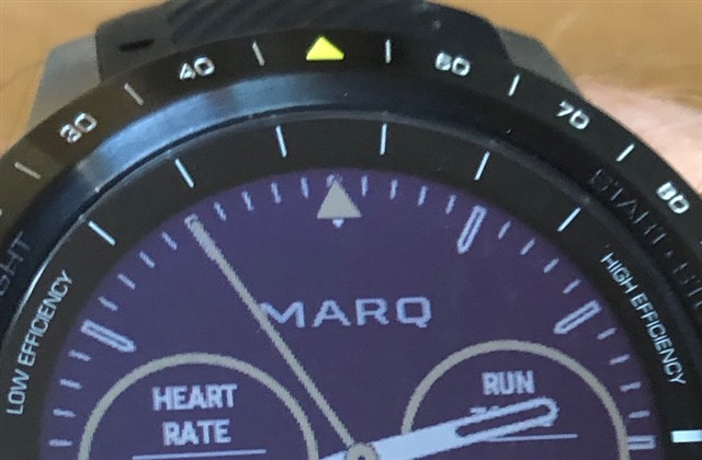 Athlete VO2 Max Pointer Misaligned - MARQ series - Wearables